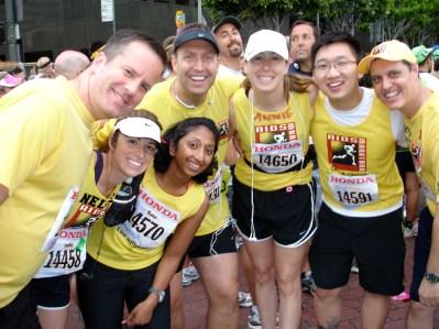 "My running group, nicknamed ""Joan's Jets."""