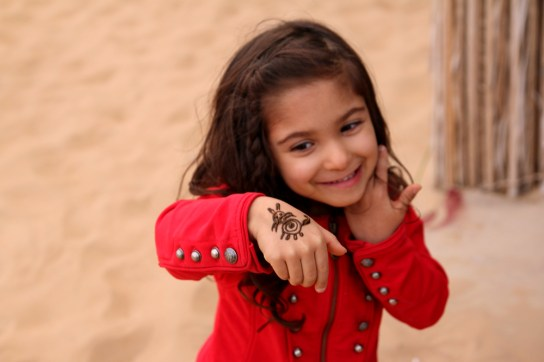 Henna art at desert safari, Dubai
