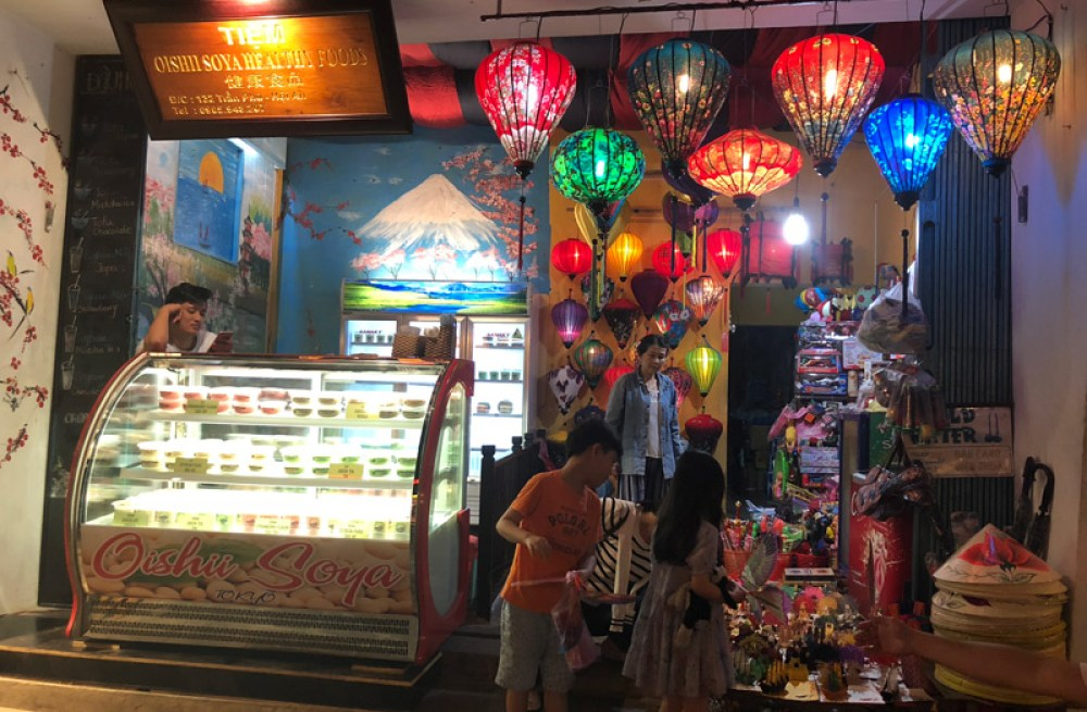 Paper lanterns in a restaurant, Hoi An