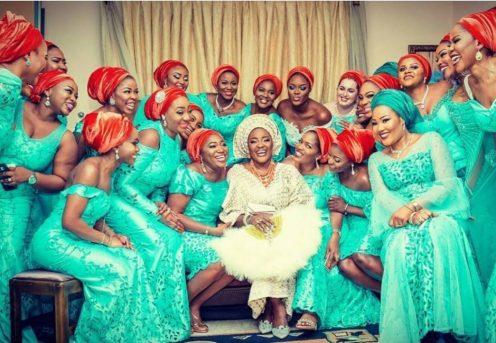 brides maid on turban