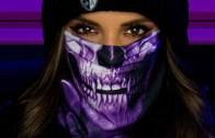 Skull Tech Purple Crow Face Mask / Bandana