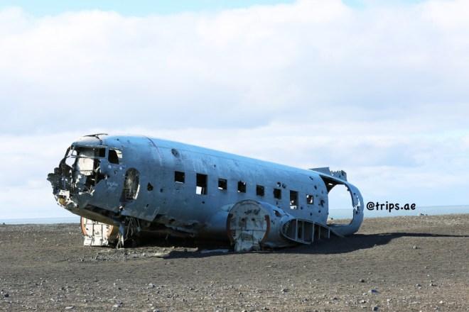 حطام الطائرة في آيسلندا
