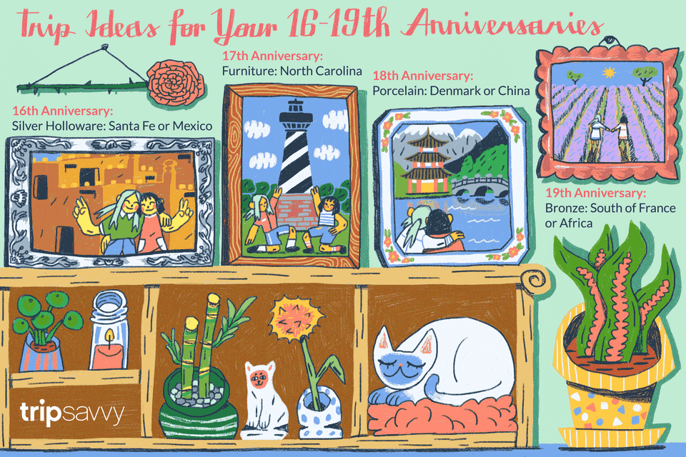 Gift Ideas For 16, 17, 18, And 19 Year Anniversaries