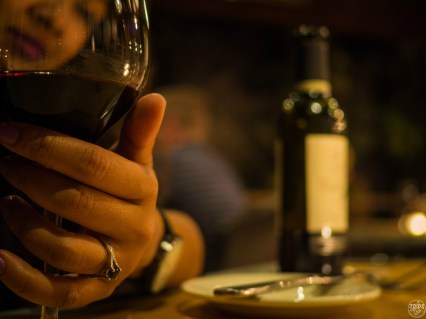 Lovely Pinot at dinner