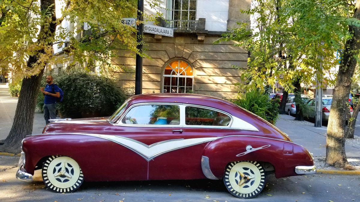 Car outside of Hotel Condesa - Mexico city trip