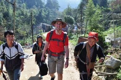 Trekking to homestay