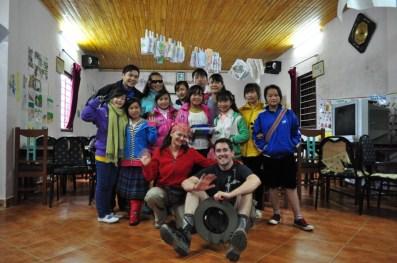 Vising the Sapa O'Chau school