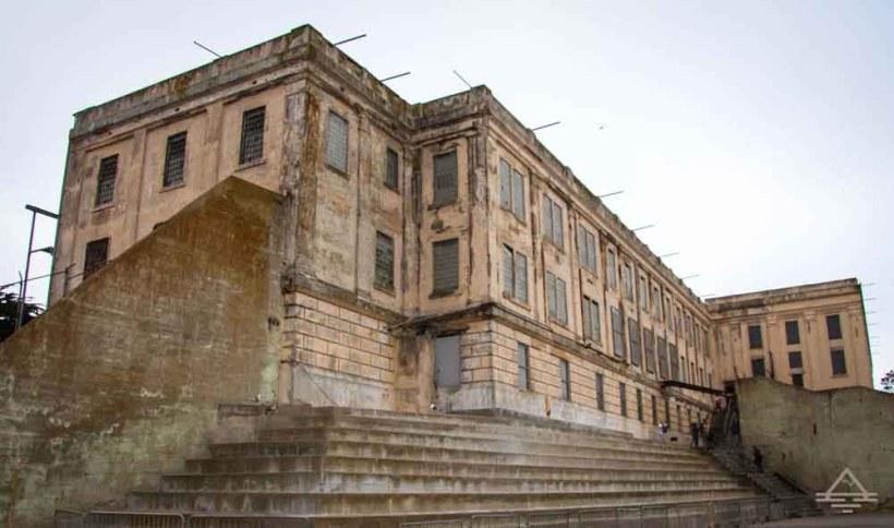 Alcatraz as seen from the yard.