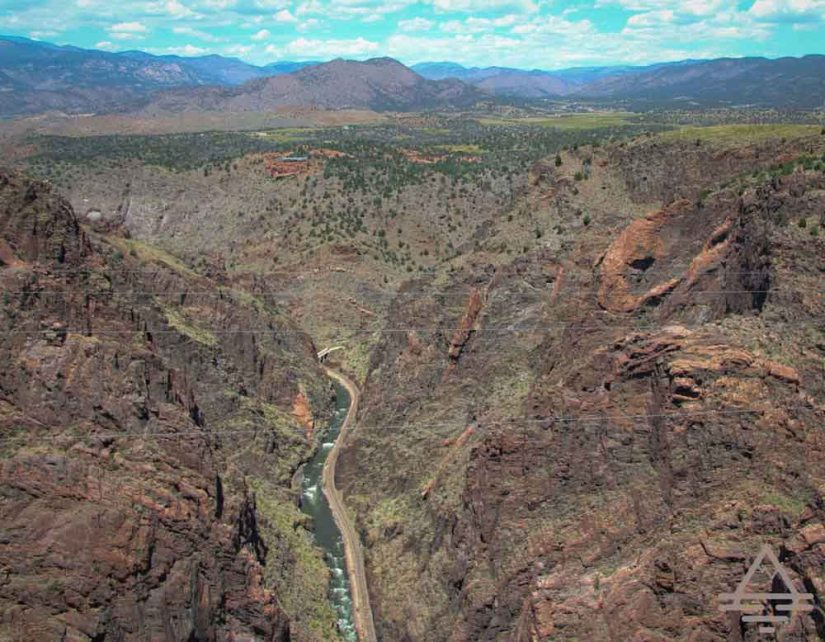 The view of the Royal Gorge