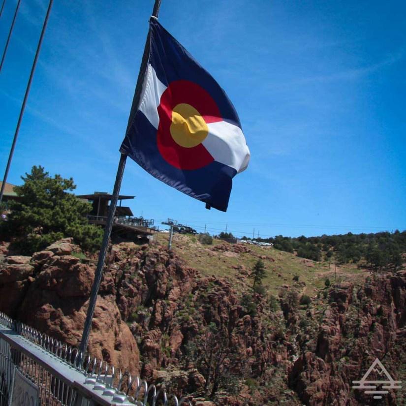 Colorado Flag on the Royal Gorge Bridge