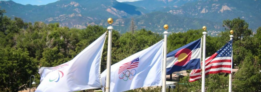 Flags at the Olympic Training Center