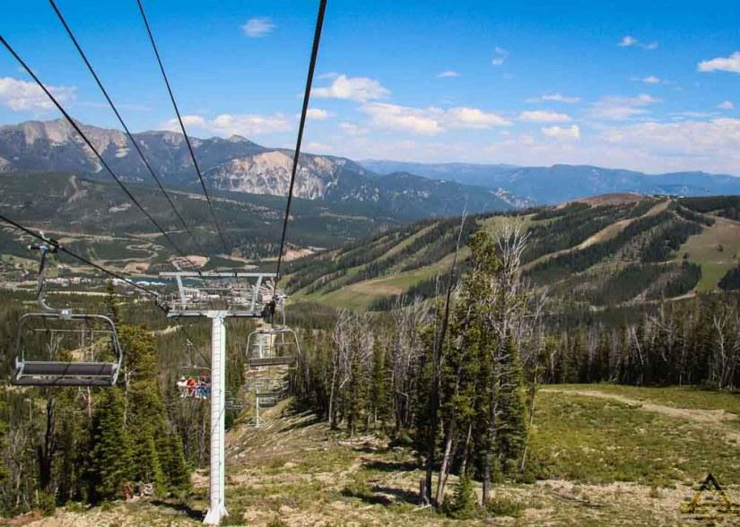 Ski Lift in Big Sky Montana