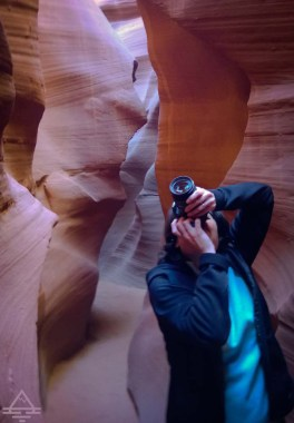 Taking pictures in Antelope Canyon.