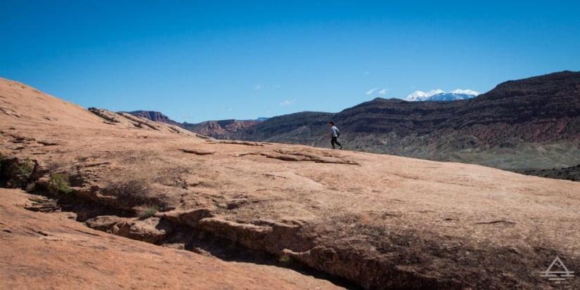 Delicate Arch hike open slickrock