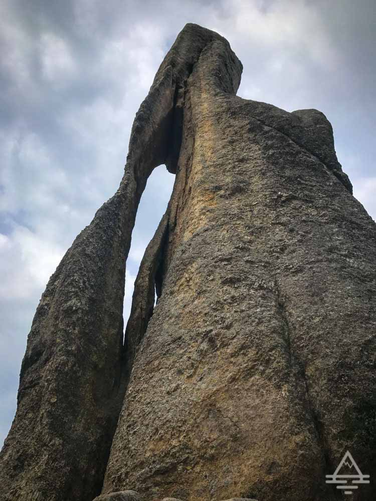 The Needles Eye rock formation in Custer State Park.