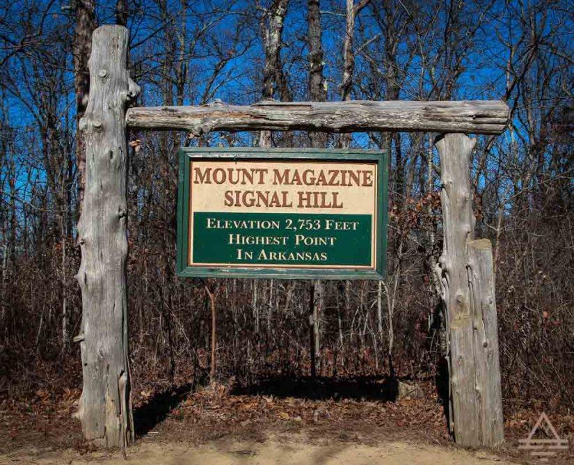 Mount Magazine State Park Sign