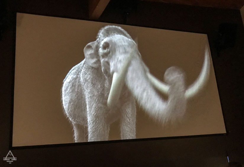Movie Screen with Large Mammoth at Hot Springs Mammoth Site