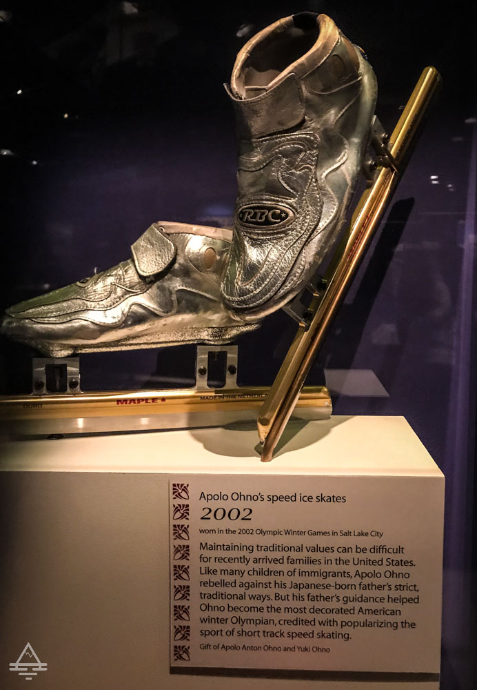 Speed Skates Worn by Apolo Ohno in the 2002 Winter Olympics in Salt Lake City