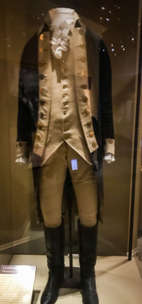 Uniform Worn by George Washington for Portraits and Special Occasions