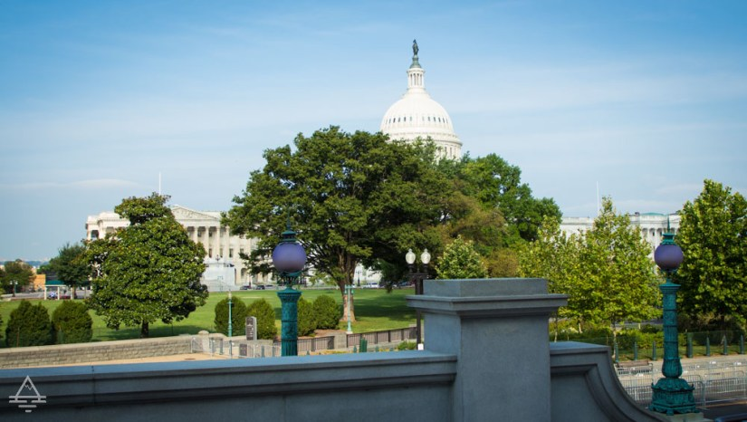 View of the Capitol from the Library of Congress.