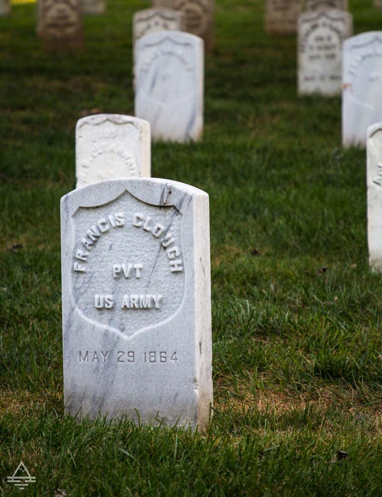 Arlington Cemetery Civil War Era Graves