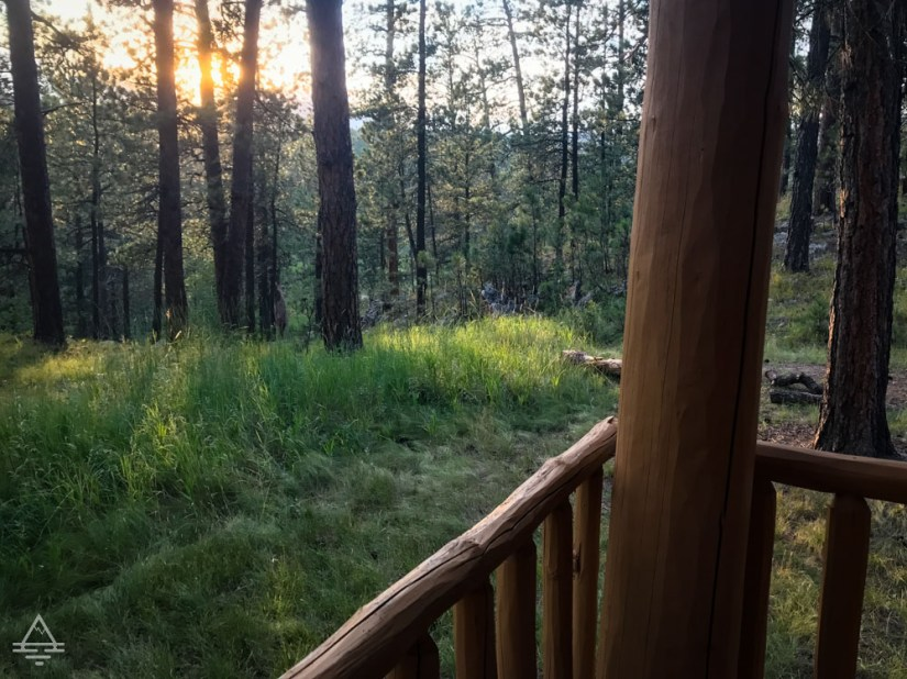 View from Porch of Blue Belle Lodge Custer Cabin