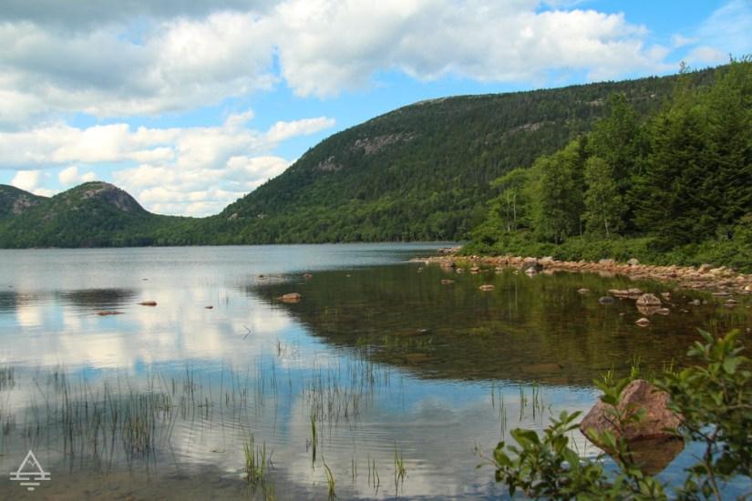 Jordan Pond in Acadia National Park in Maine