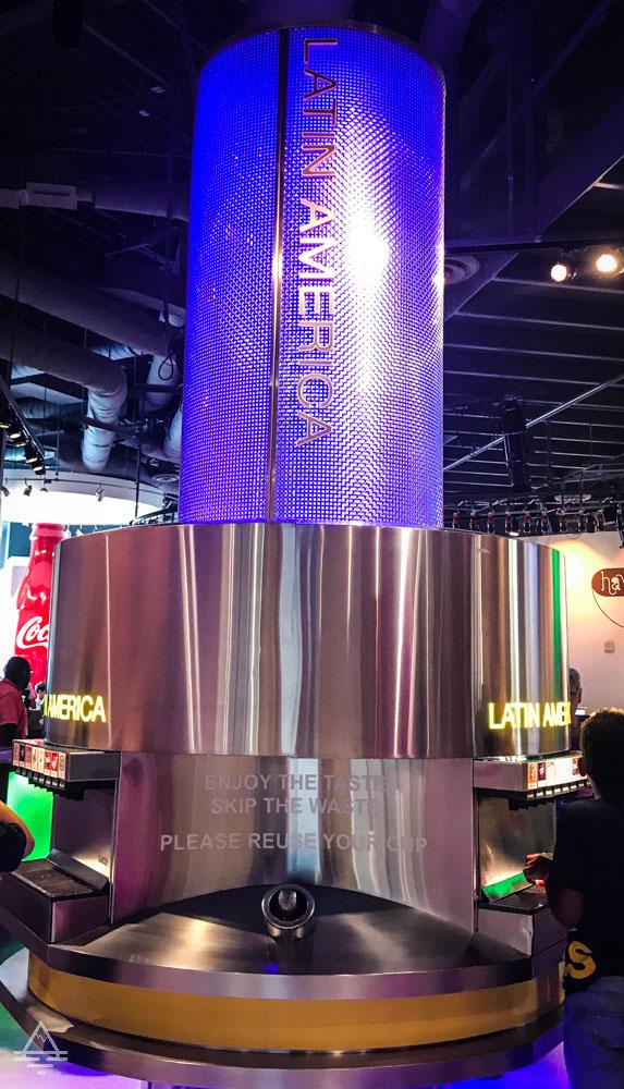 Dispenser for Lain America Coca Cola Company Brands
