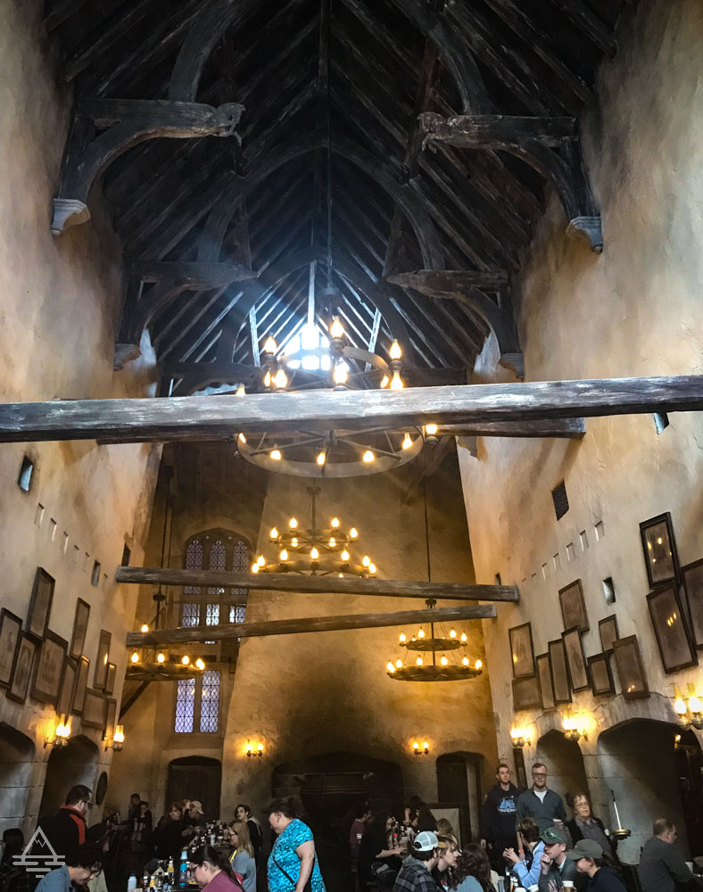 Inside of the Leaky Cauldron in Harry Potter World Orlando