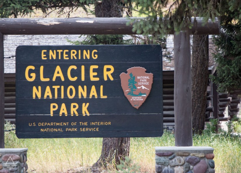 Glacier National Park Sign