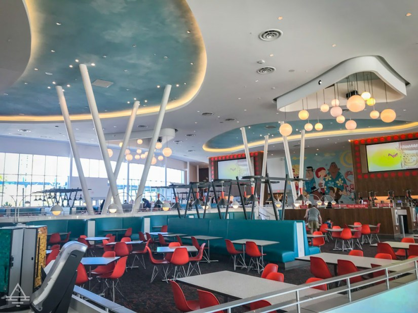 Dining room with tables and chairs at Bayliner Diner at Universal Orlando