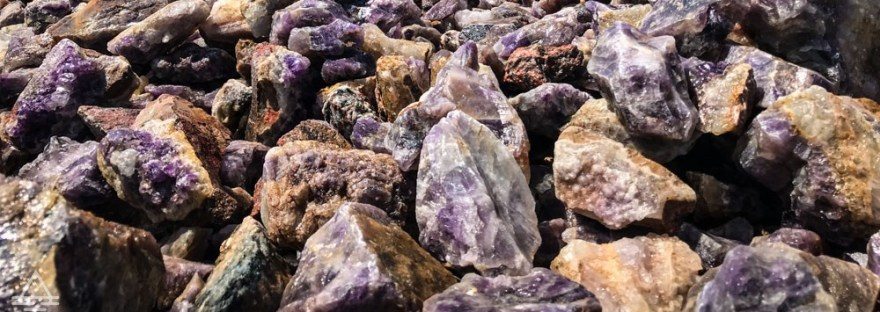 Pile of Amethysts at Panorama Mine