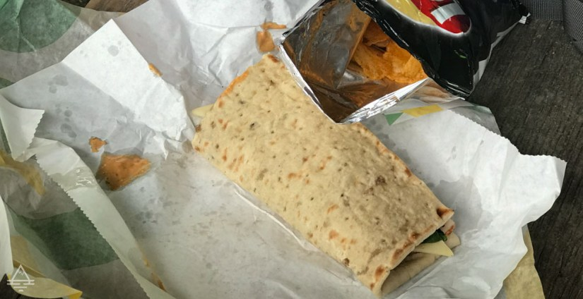 Picnic with Flatbread Sandwich and Chips