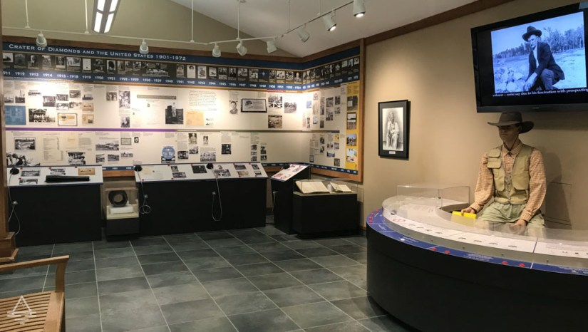 Exhibit Area with Displays in the Information Center