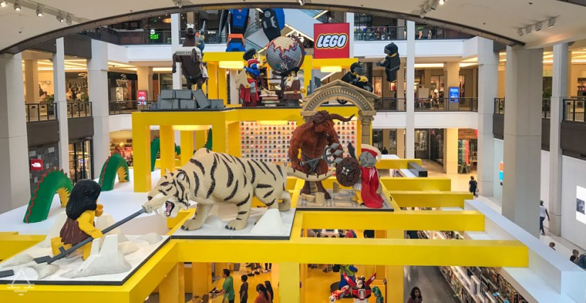 Top of Lego Store in the Mall of America