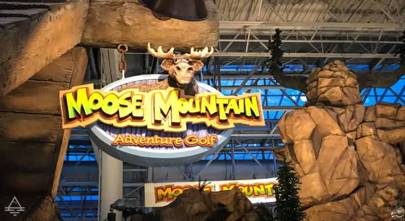 Moose Mountain Adventure Golf Sign