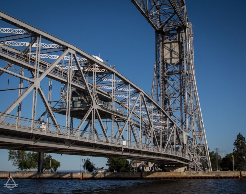 Duluth Aerial Lift Bridge in Low Position