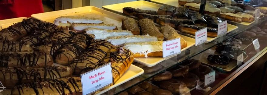 Shelf of Long Johns and Donuts in Grand Marais, Minnesota