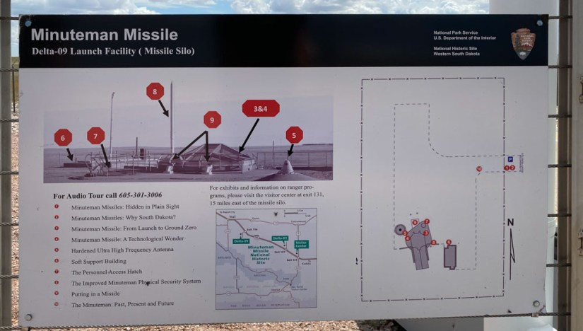 Sign with map of Delta 09 at Minuteman Missile National Historic Site