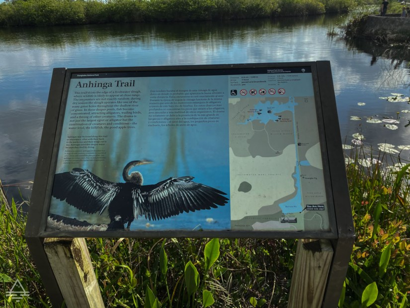 Interpretive Sign for the Anhinga Trail in Everglades National Park