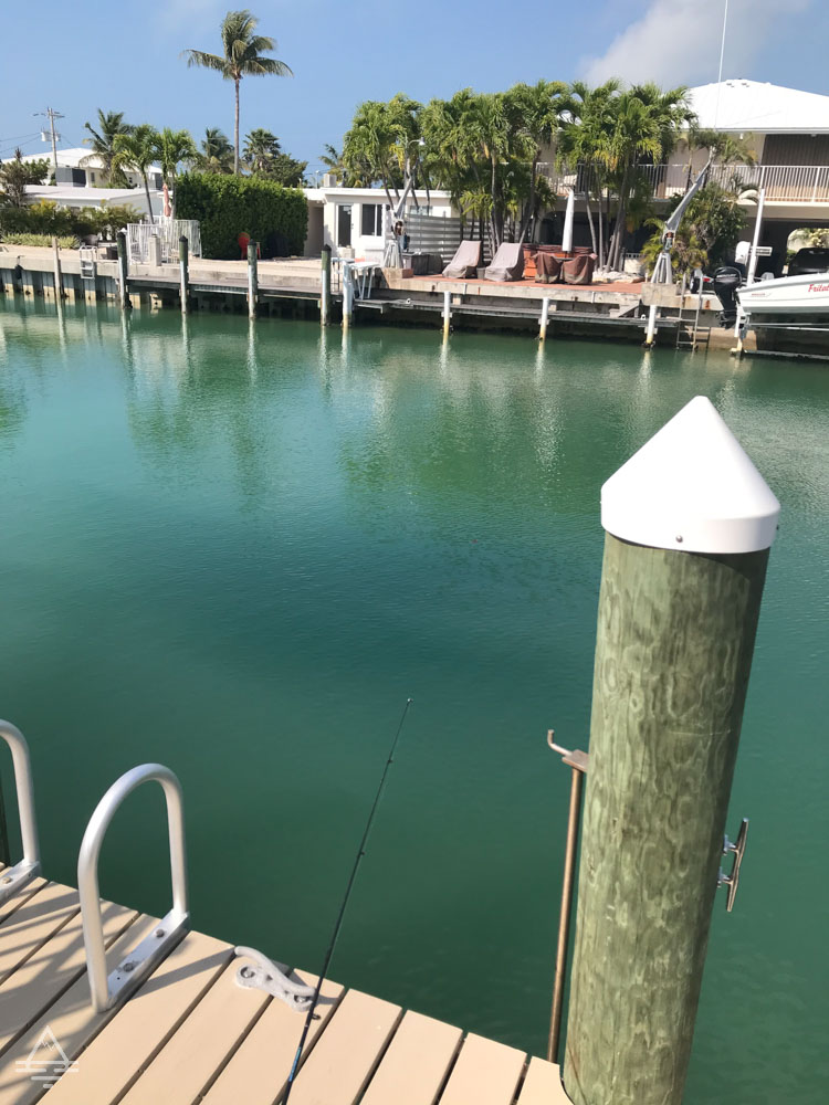Dock and pier in the Florida Keys