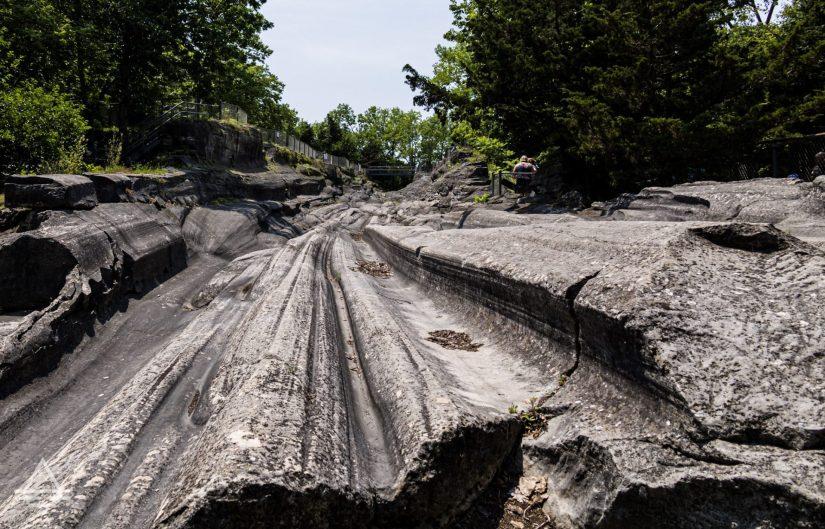 Glacial grooves on Kelleys Island