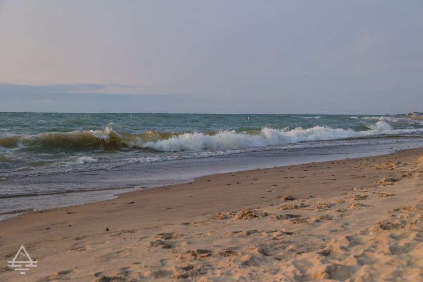 Waves on the Beach at Indiana Dunes State Park