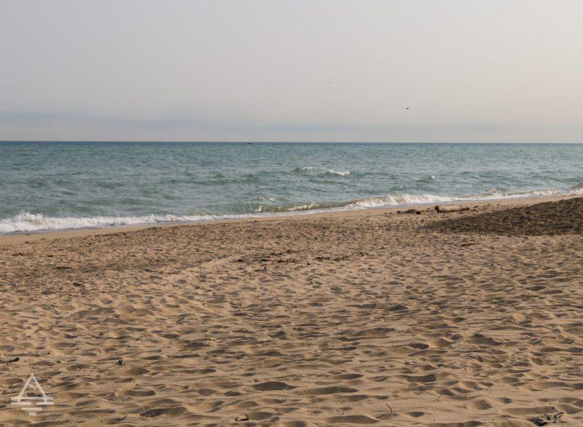 Indiana Dune Beach by Lake Michigan