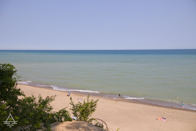 View of Mount Baldy Beach at Indiana Dunes