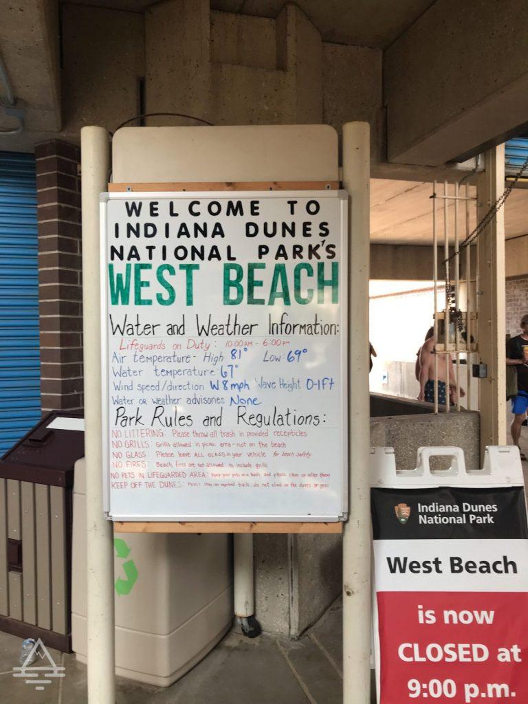 West Beach Sign