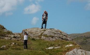 The boys hiking