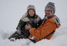 At the bottom of a sled run, Bad Goisern, Austria
