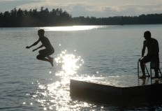 tanner jumping off dock2