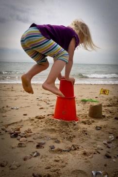Girl Leapfrogging